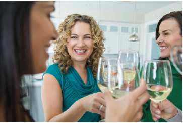 Women with wine glasses