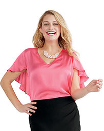 flutter sleeve top $59
