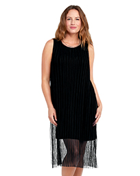 Pleated Mesh Dress $89
